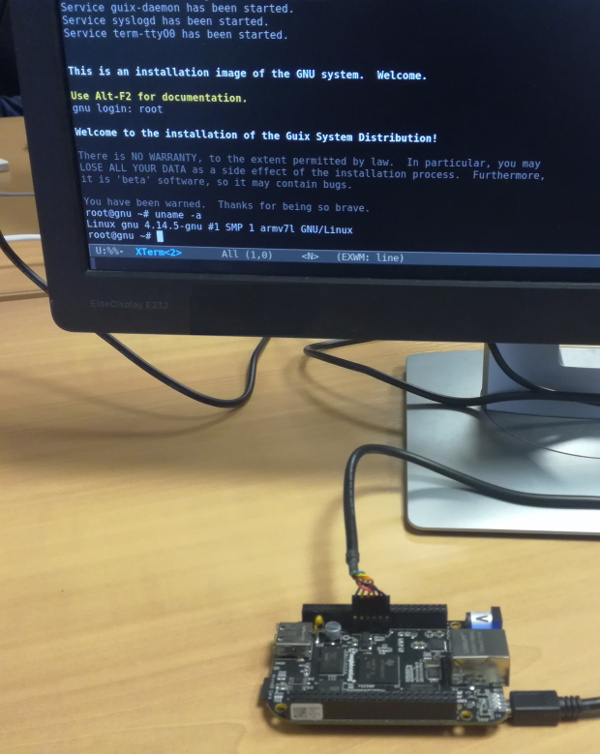 GuixSD installer on BeagleBone Black